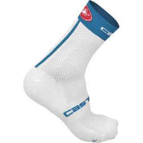 Castelli Free 9 Socks Unisex white/surf blue